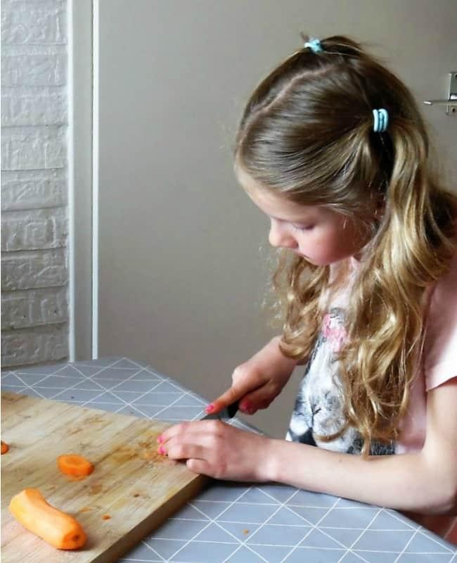 Child Preparing Food
