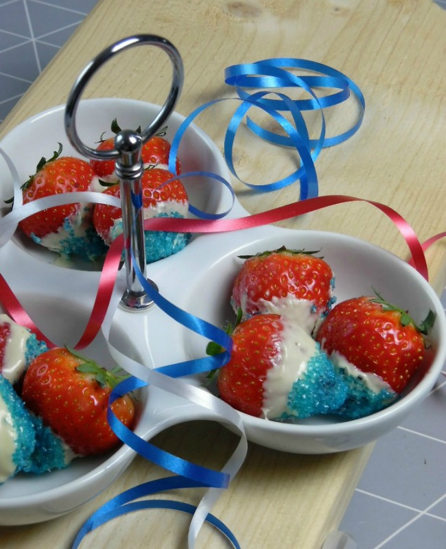 American Flag Color Strawberries