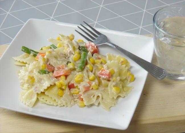 Plate of tuna pasta
