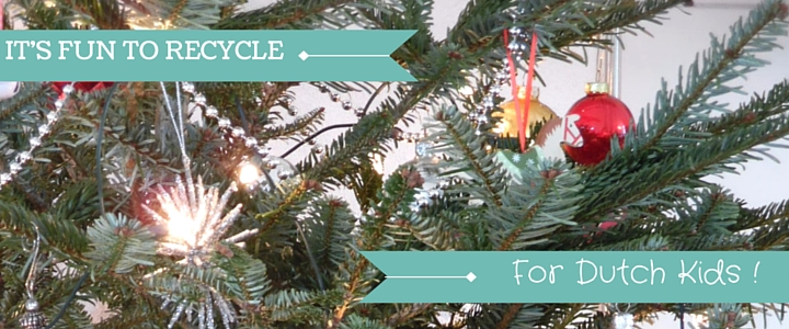 Christmas tree image with text - it's fun to recycle