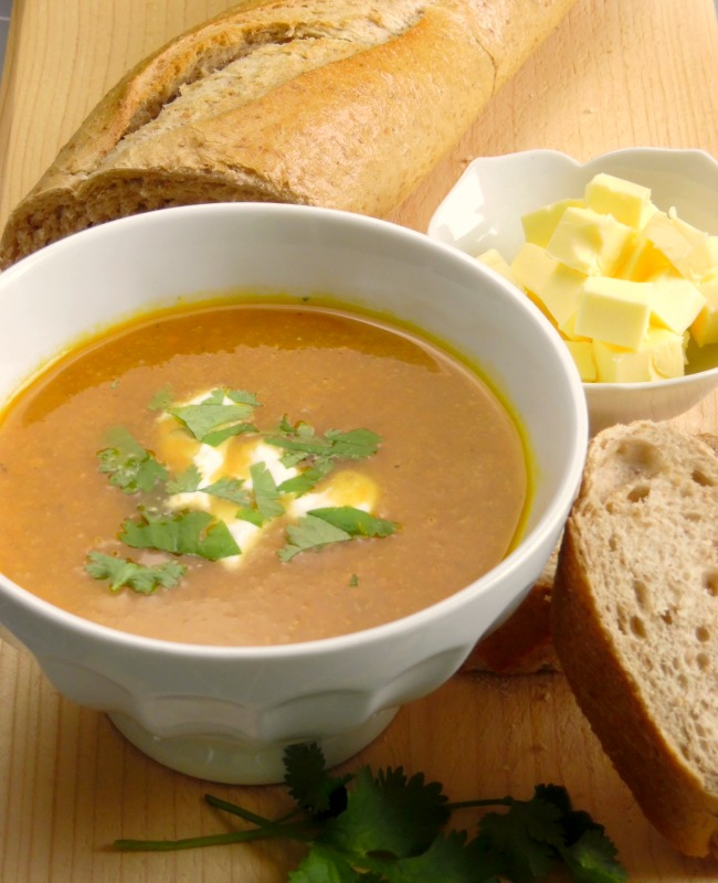 Carrot And Coriander Soup - Quick and easy recipe that is not only delicious but super healthy too!