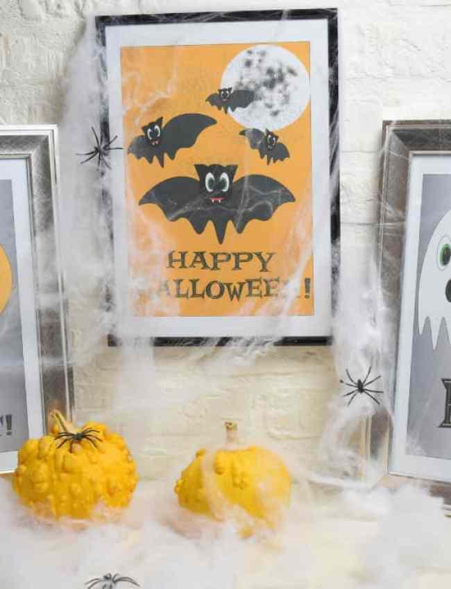 free halloween printable - cute friendly bat characters