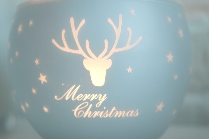 Frosted Mercury Glass Christmas Votive