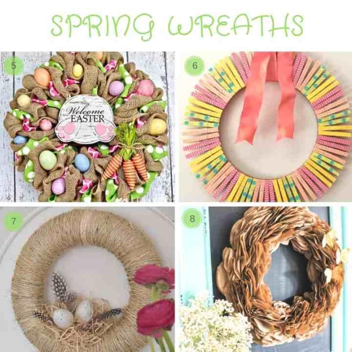 12 DIY Spring Decor Ideas: round-up of stylish easy diy home decor ideas