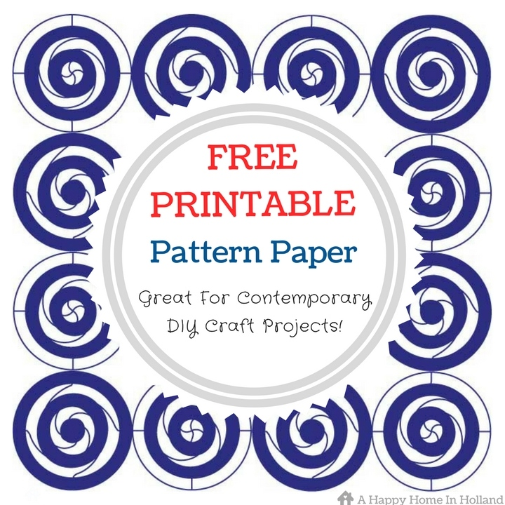 Free Printable Pattern Paper - This Modern Navy Blue Circle Pattern Is Great For DIY Craft & Home Decor Projects