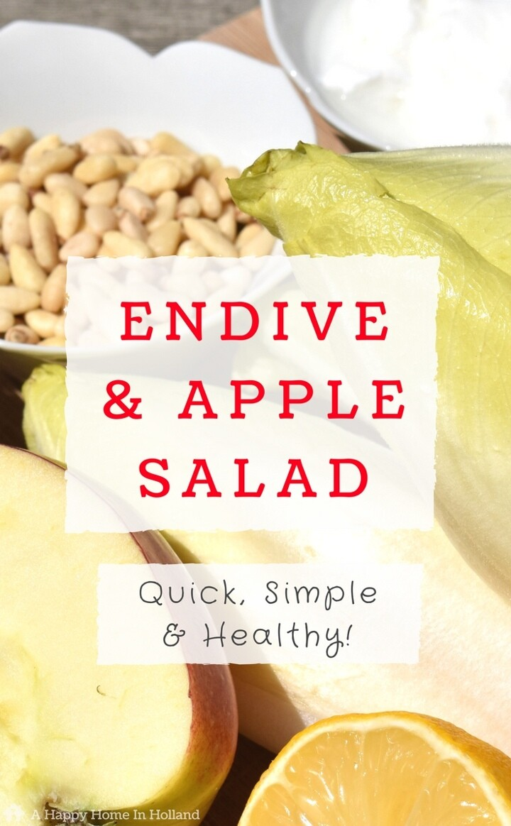Endive Salad Recipe - this fresh and crunchy salad is packed with flavour, it's super healthy and is really easy to make