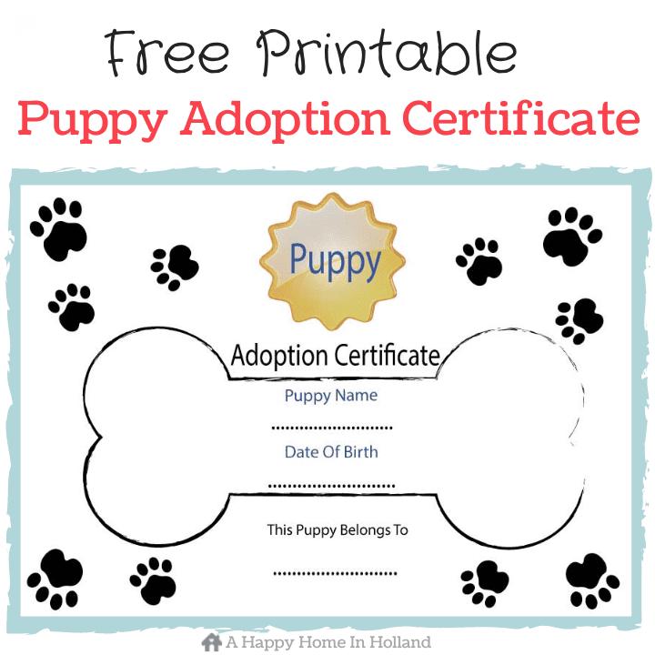 Free Printable Dog Bone Shaped Adoption Certificate 3d House Drawing