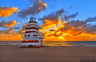 sunrise-over-lifeguard-stand-at-south-miami-beach-florida
