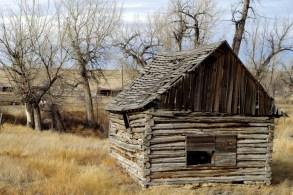 Log cabin, Ulm, MT.