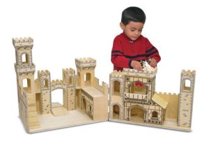 wooden castle from Melissa & Doug