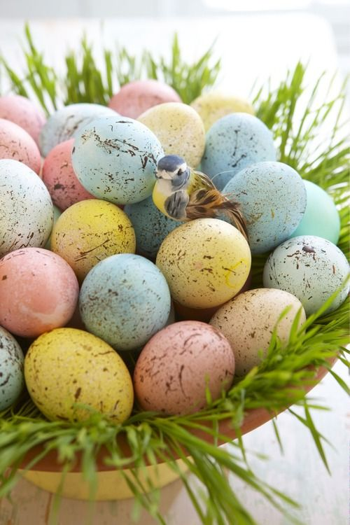 Pastel Speckled Easter Eggs