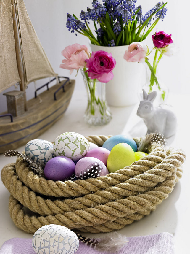 Rope Easter Centerpiece