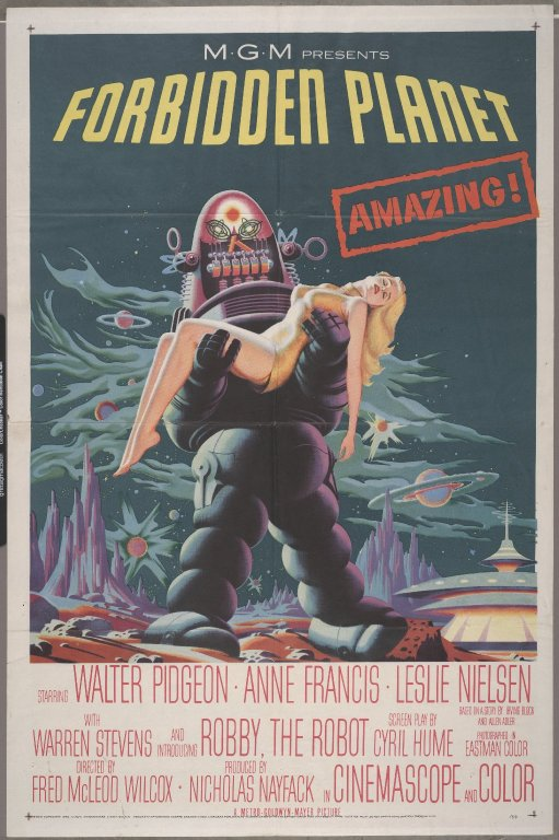 Promotional poster for the 1956 film.  University of Wyoming, American Heritage Center, Forrest J Ackerman Collection, Collection #2358, Box 124.