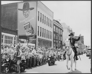 Hopalong Cassidy on parade, Box 115, Negative Number 27916. William Boyd Collection, #8038. UW American Heritage Center.