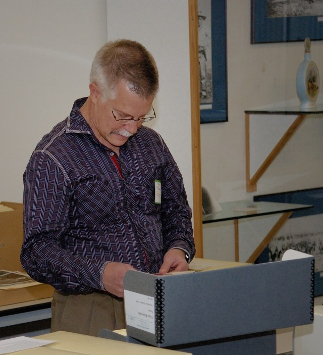 Professor Michael Brose with AHC collections.