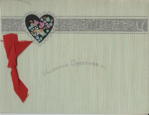 Front of Valentine's Day greeting sent by a friend to Elma Brown , 1926.  Elma Brown papers, #300019, Box 1, Scrapbook.