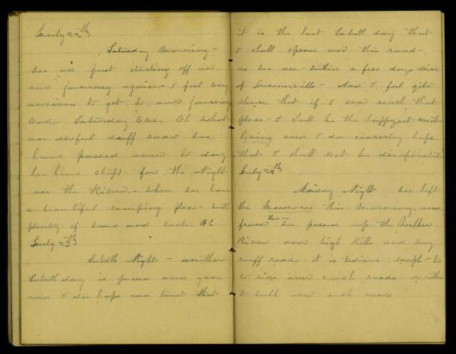 A page from the diary--you can see why the transcriptions come in handy!