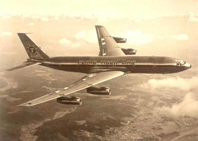 Boeing 707-349C flown on the Rockwell Polar Flight