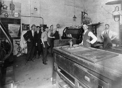 00374-Carbon County Journal printing plant