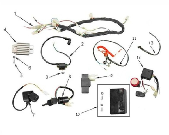 110 Panther Wiring Diagram Orion 110cc Wiring Harness Loom Storm Buggies