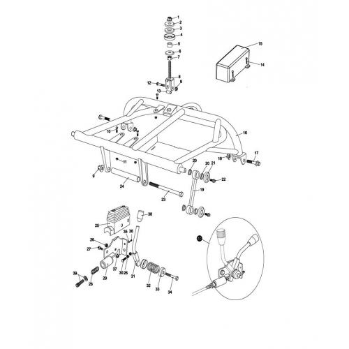 INNER SPACER/COLLAR for Upper Rear Swing Arm/Engine Mount
