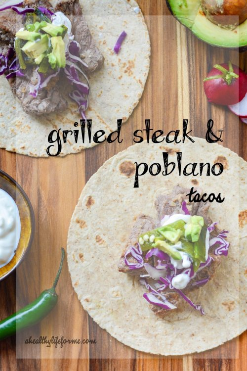 Grilled Steak and Poblano Taco Recipe