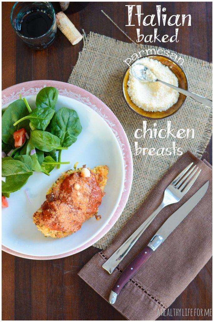 Italian Parmesan Chicken Breasts