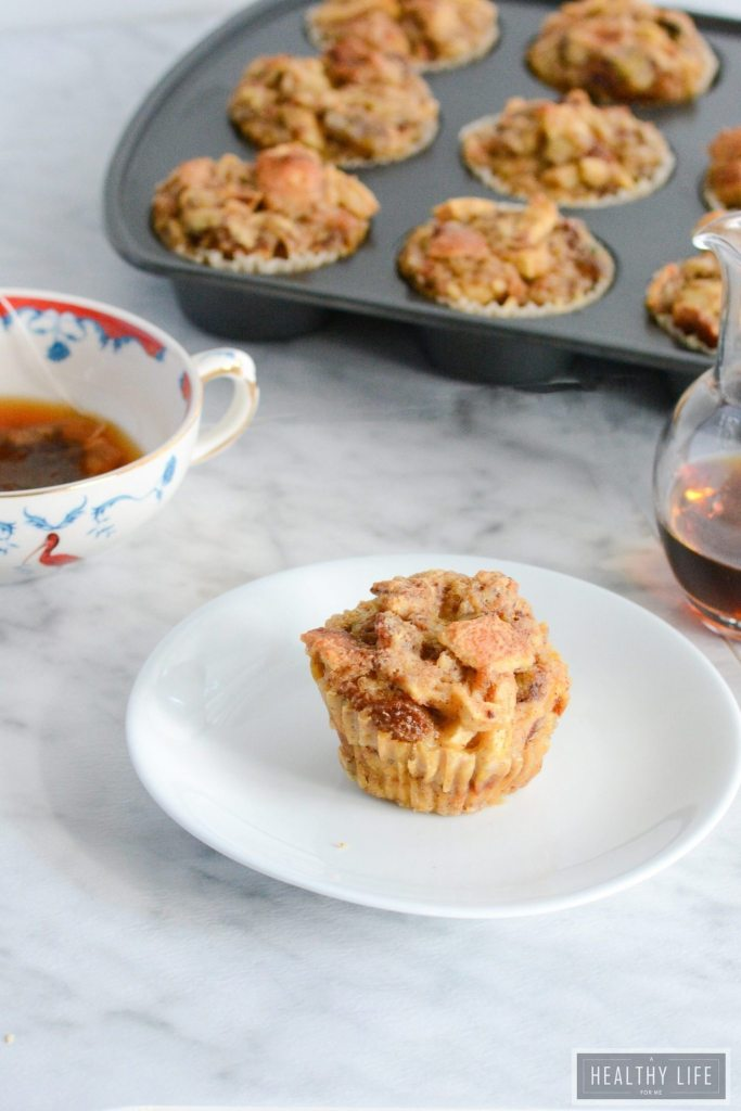 Bread Pudding Muffins are perfect for breakfast or dessert | ahealthylifeforme.com
