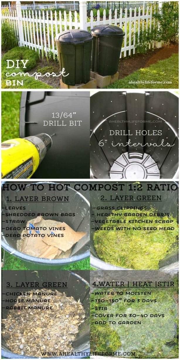 DIY Compost Bin How to | ahealthylifeforme.com