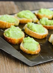 Fava Bean and Manchego Crostini is a simple elegant appetizer that is creamy and delicious | ahealthylifeforme.com