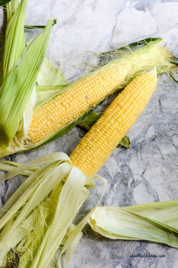 Corn on the cob | Corn Succotash Recipe | ahealthylifeforme.com