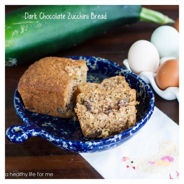 Dark Chocolate Zucchini Bread Great to Freeze