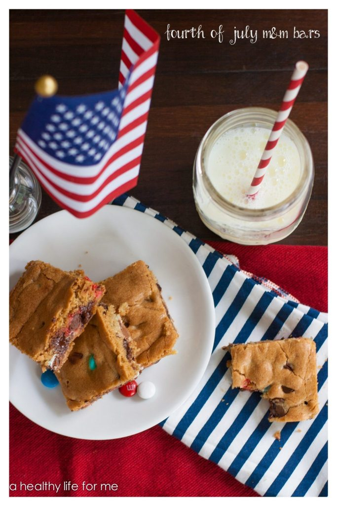 Fourth of July M & M Bars Dessert Summer Cookout