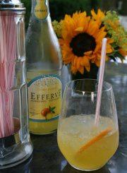 Sparkling Orangeade Cocktail @ ahealthylifeforme.com