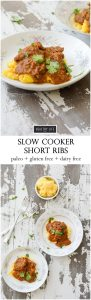 Slow Cooker Short Ribs recipe that is paleo and gluten free | ahealthylifeforme.com
