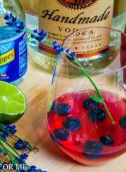 Blueberry Lavender Vodka Spritzer @ a healthylifeforme