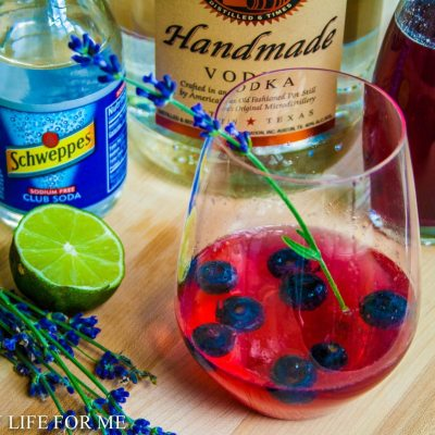 Blueberry Lavender Vodka Spritzer