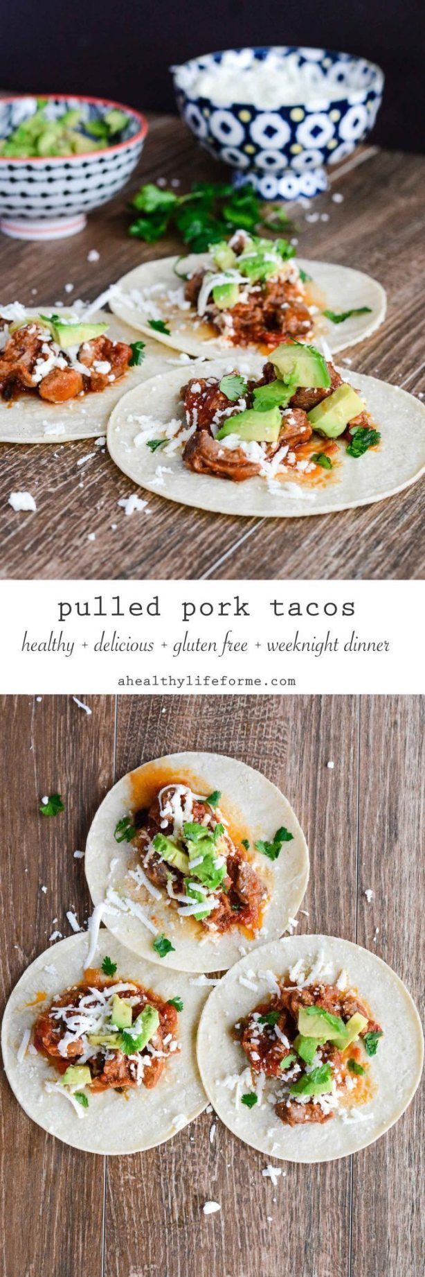 Pulled Pork Tacos Gluten Free Weeknight Dinner Recipe | ahealthylifeforme.com