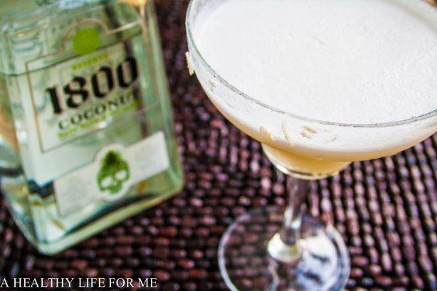 Coconut Margarita made with 1800 Coconut Tequila   Margarita Day Cocktail Round Up