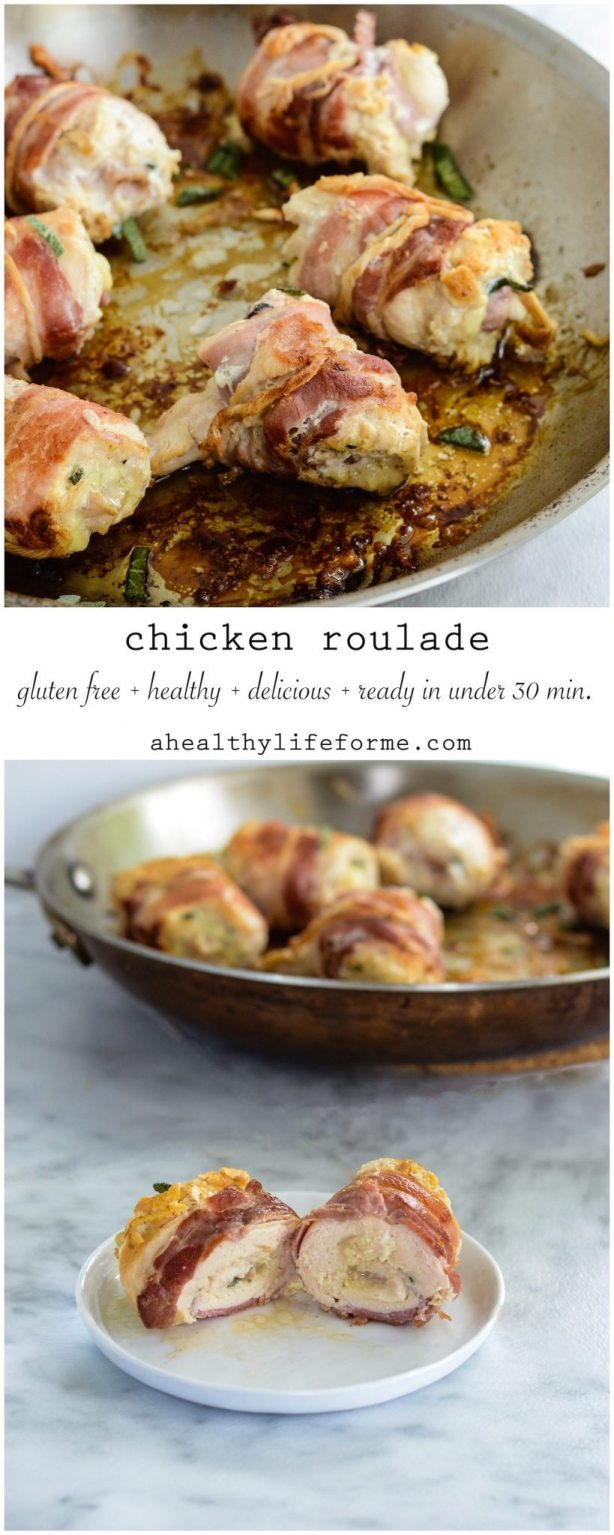 Chicken Roulades with Sage is a simple, quick and delicious dinner recipe that will please the whole family | ahealthylifeforme.com