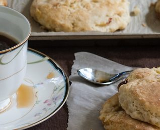 Peaches and Cream Biscuits