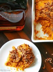 Sweet Potato Casserole with Bourbon Glaze Recipe