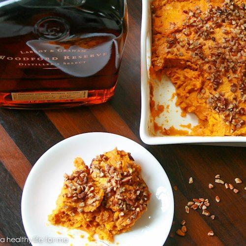 Sweet Potato Casserole with Bourbon Glaze Recipe