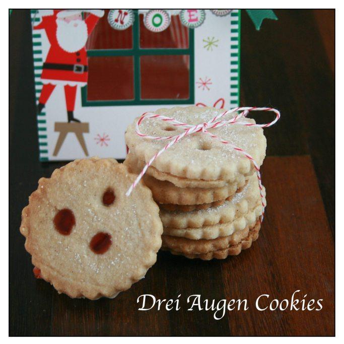 Drei Augen German Shortbread Cookie Recipe | ahealthylifeforme.com