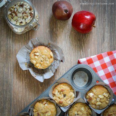 Apple Cherry Pear Almond Breakfast Muffins