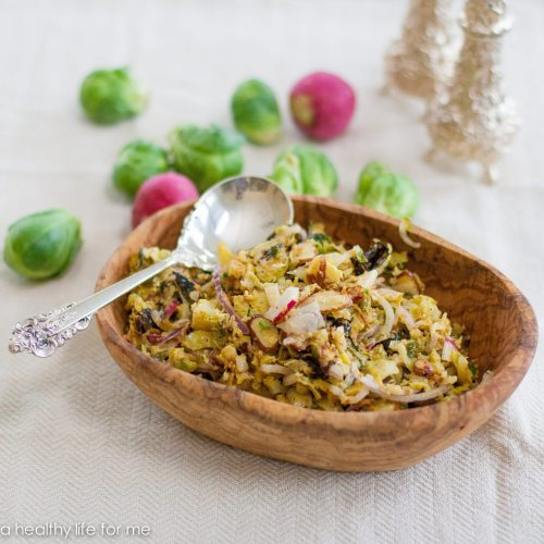 Roasted Brussel Sprouts Slaw Recipe   ahealthylifeforme.com