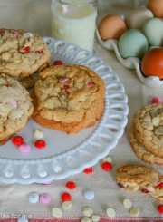 WHITE CHOCOLATE AND M&M COOKIE RECIPE | AHEALTHYLIFEFORME.COM