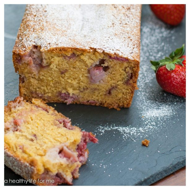Strawberry Almond Breakfast Bread Recipe | ahealthylifeforme.com