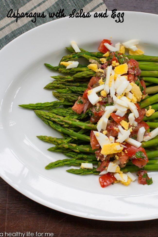 Asparagus with Salsa and Egg Recipe Gluten Free | ahealthylifeforme.com