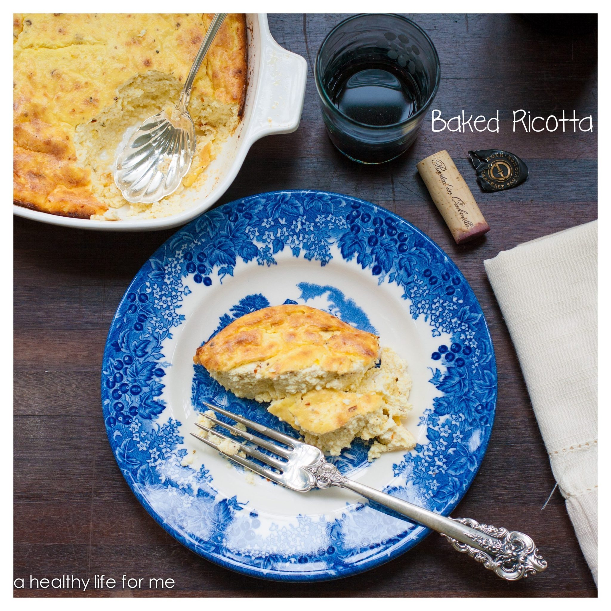 Baked Ricotta Gluten Free Vegetarian